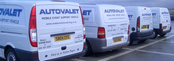 Autovalet's 4 Mobile Units from Behind