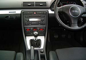 Audi interior following valeting